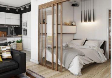 Как отделить кровать в однокомнатной квартире
