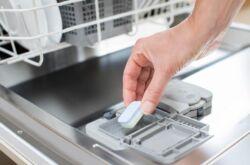 В посудомойке не растворяется таблетка