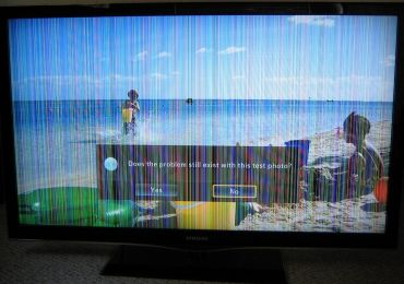 Горизонтальные полосы на экране телевизора