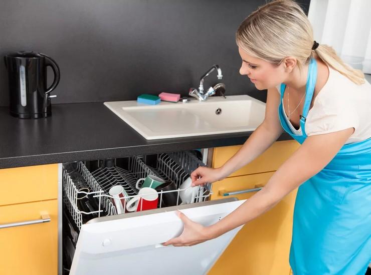Последовательность работы посудомоечной машины