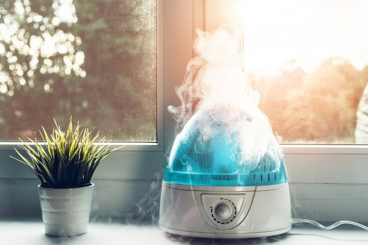 Использование воды в разных типах увлажнителей воздуха