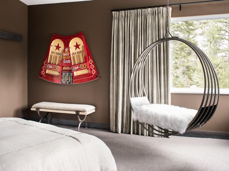 Плетёное кресло гамак на каркасе