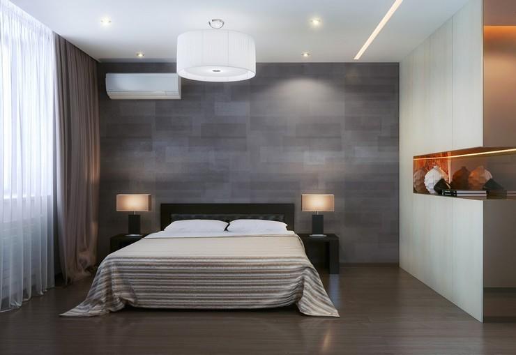 Отделка спальни в стиле минимализм