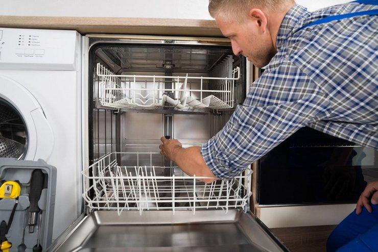 Поломка заливного клапана посудомойки