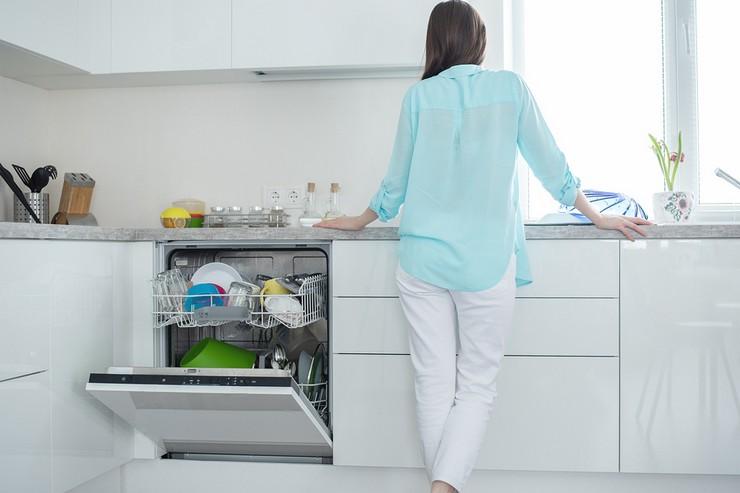 выбор отсека во встроенной кухне для посудомойки