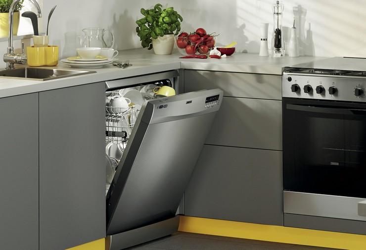 Сочетание посудомоечной машины с бытовой техникой на кухне