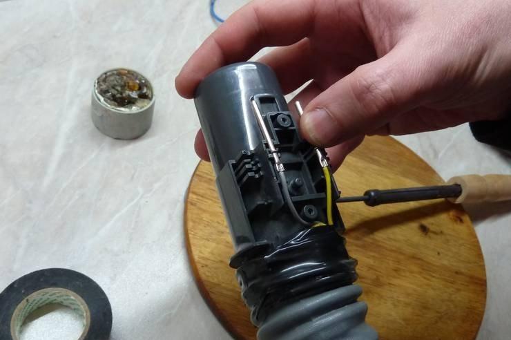 Восстановление шланга с внутренними проводниками