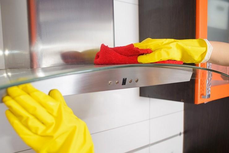Как отмыть вытяжку от жира при помощи мыльного раствора