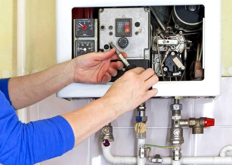 Отложения на конструктивных элементах газового котла