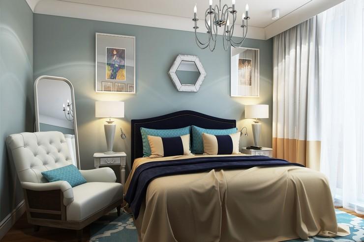 Интерьер спальни: варианты отделки в американском стиле