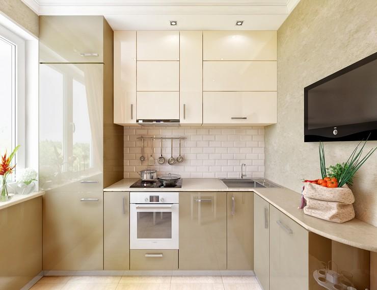 Установка холодильника на небольшой кухне