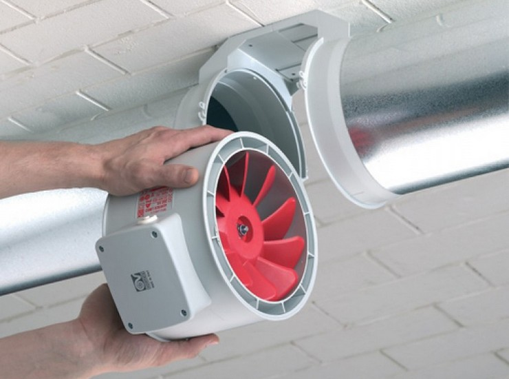 вентилятор вытяжной канальный монтаж