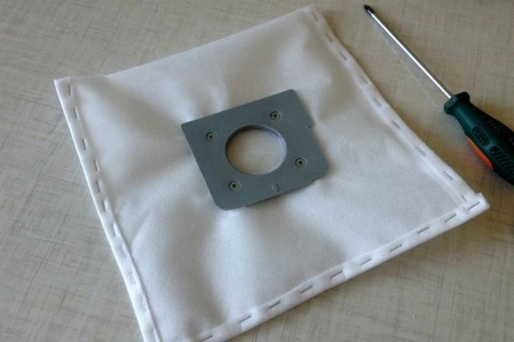 Материалы и инструменты для мешка пылесоса