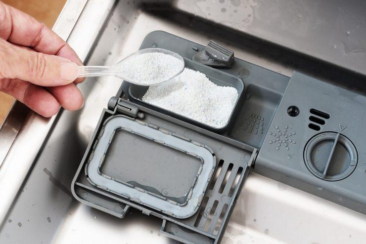 Устранение ржавчины и плесени с деталей посудомойки