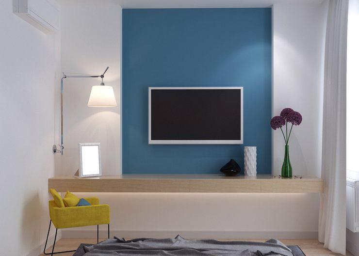 Идеи гармоничного размещения в интерьере телевизора на стене
