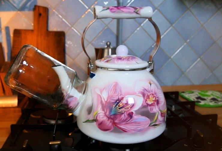 Как стерилизовать банки на чайнике