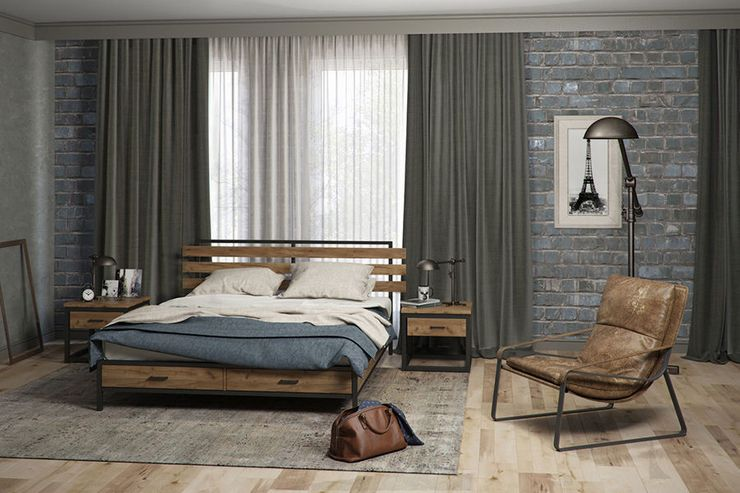 Варианты кроватей в стиле лофт