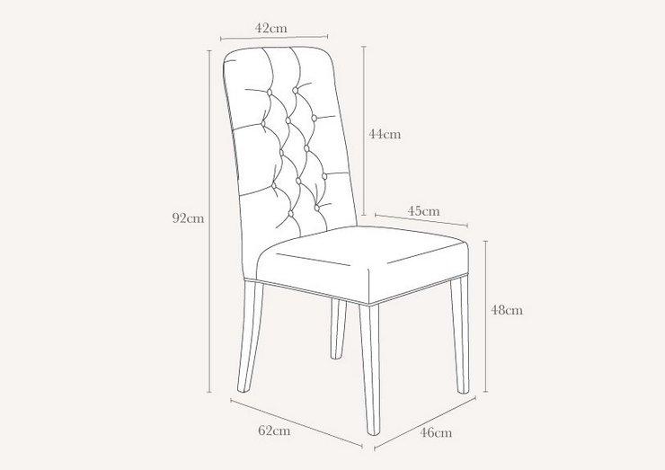 Высота стула со спинкой