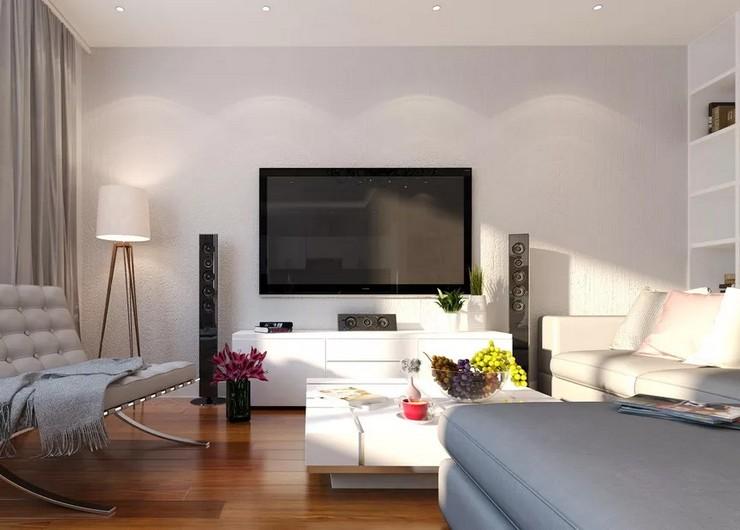 Дизайн ТВ-зоны гостиной: яркие идеи, фото