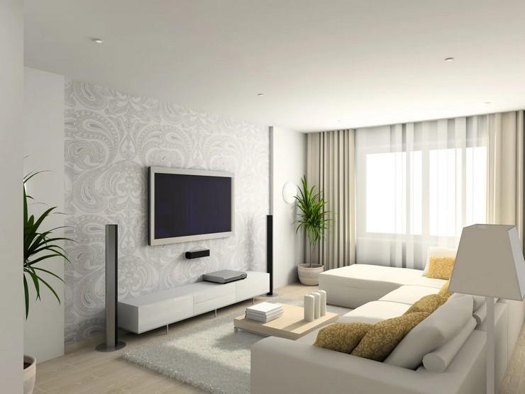 Полезные советы при оформлении зоны телевизора в гостиной