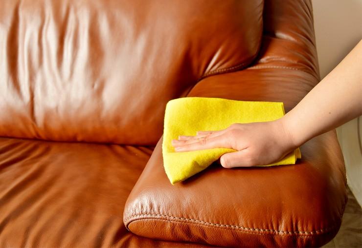 Народные методы ухода за кожанным диваном