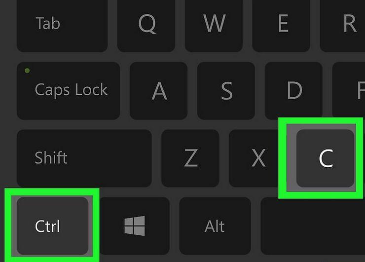 Как скопировать текст с помощью клавиатуры