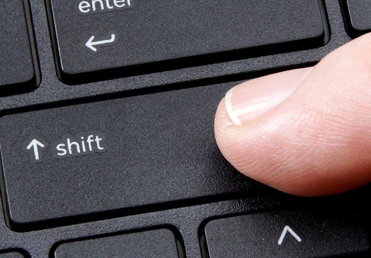 Где находится верхний регистр на клавиатуре