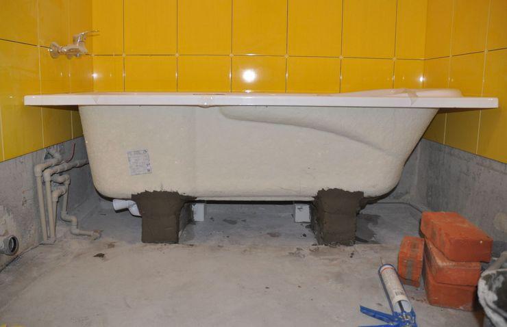 Какой может быть высота ванны от пола